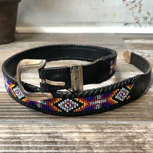 Vintage 1991 Aztec Beaded Womens Belt